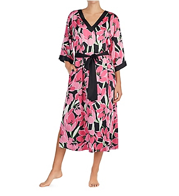 Kate Spade New York Tropical Floral Charmeuse Caftan