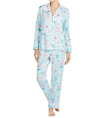 Kate Spade New York Beverly Hills Cosmetics Long Classic PJ Set