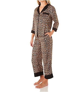 Kate Spade New York Classic Leopard Cropped PJ Set