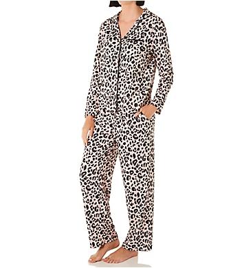 Kate Spade New York Sketch Leopard Sweater Knit Button Front PJ Set
