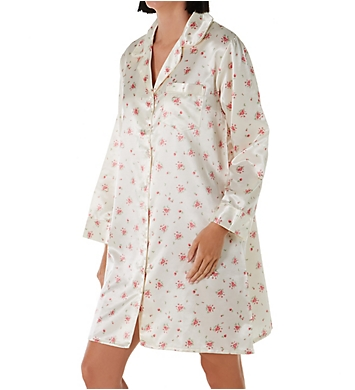 KayAnna Dots 'n Stripes Satin Brushed Back Nightshirt