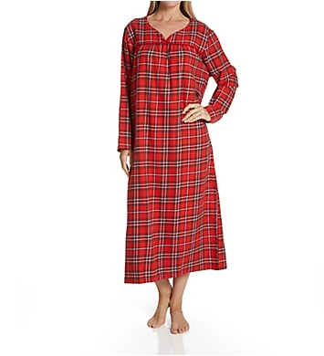 KayAnna Red Plaid Flannel Long Gown
