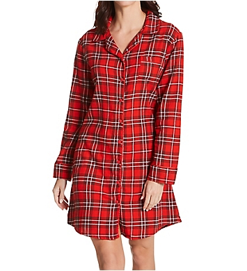 KayAnna Red Plaid Flannel Sleepshirt