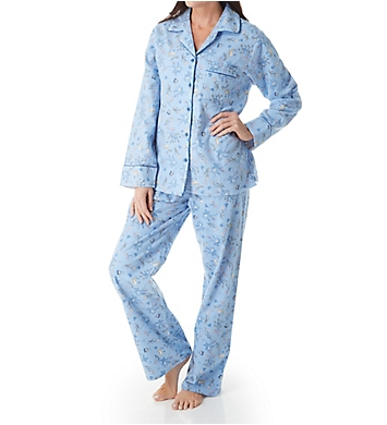 KayAnna Printed Forest Flannel Novelty Pajama Set