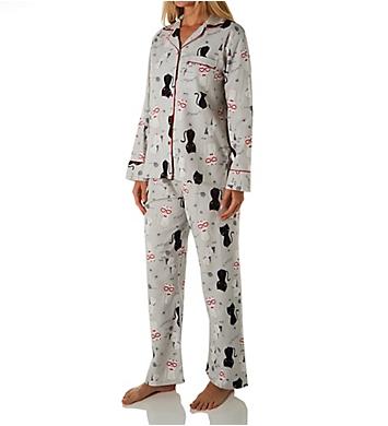 KayAnna Happy Cats Flannel Pajama Set