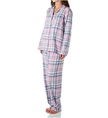 KayAnna Pink Plaid Flannel Pajama Set