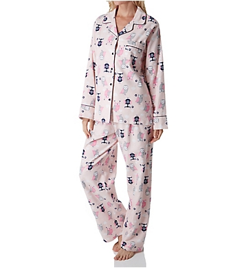 KayAnna Owls Flannel Pajama Set