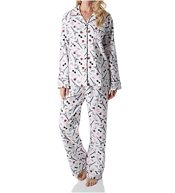 KayAnna Paris Flannel Pajama Set