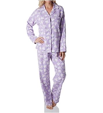 KayAnna Swans Flannel Pajama Set
