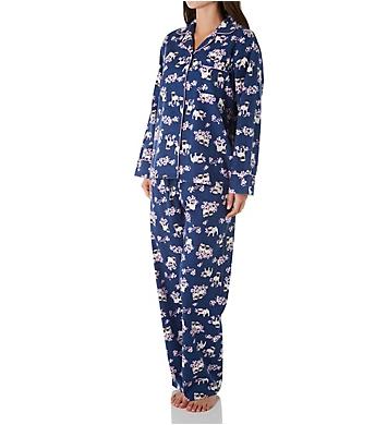 KayAnna Pugs Flannel Pajama Set