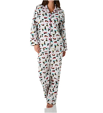 KayAnna Yoga Dog Flannel Pajama Set