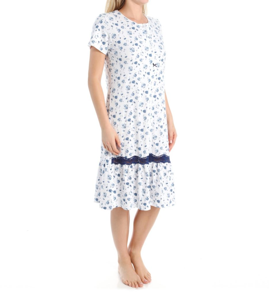 KayAnna Rosy Short Sleeve Nightgown