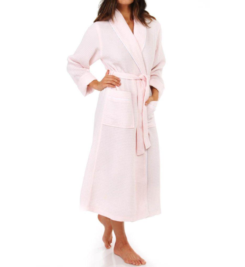 KayAnna Waffle Shawl Collar Spa Robe