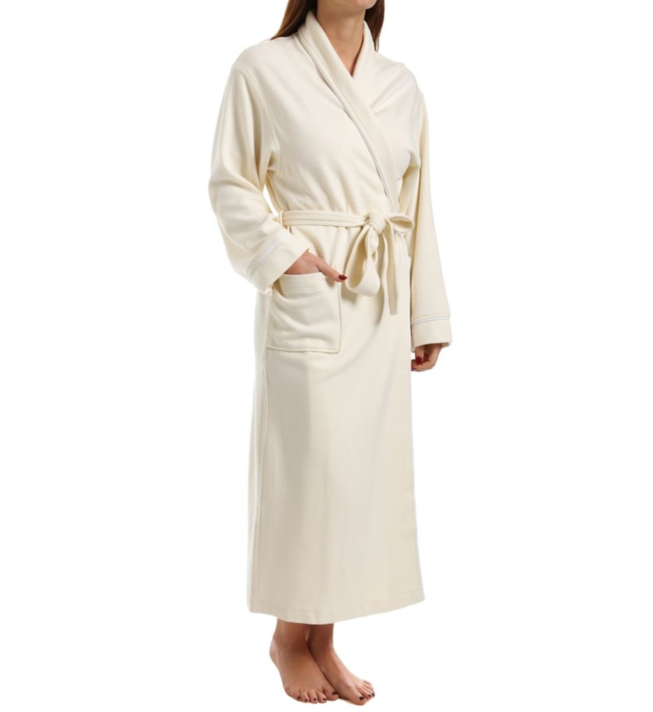 KayAnna Quilted Modal Shawl Collar Robe