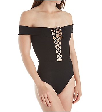 L Space Ridin High Anja Ribbed Classic One Piece Swimsuit