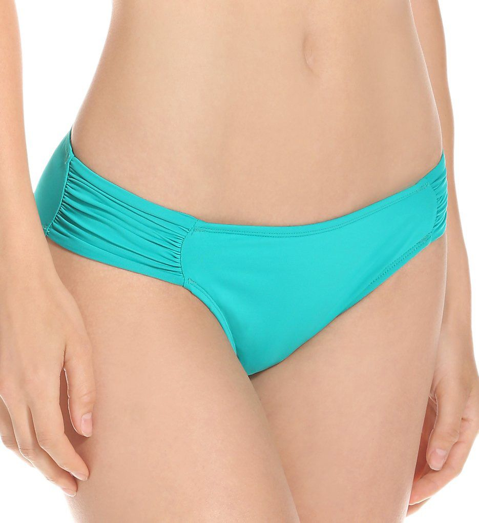 La Blanca Core Solid Shirred Sided Hipster Swim Bottom