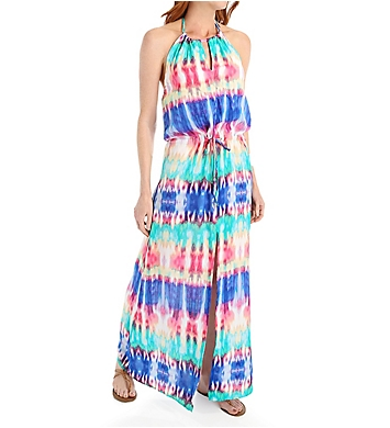 La Blanca Island Antigua Cover Up Slit Maxi Dress