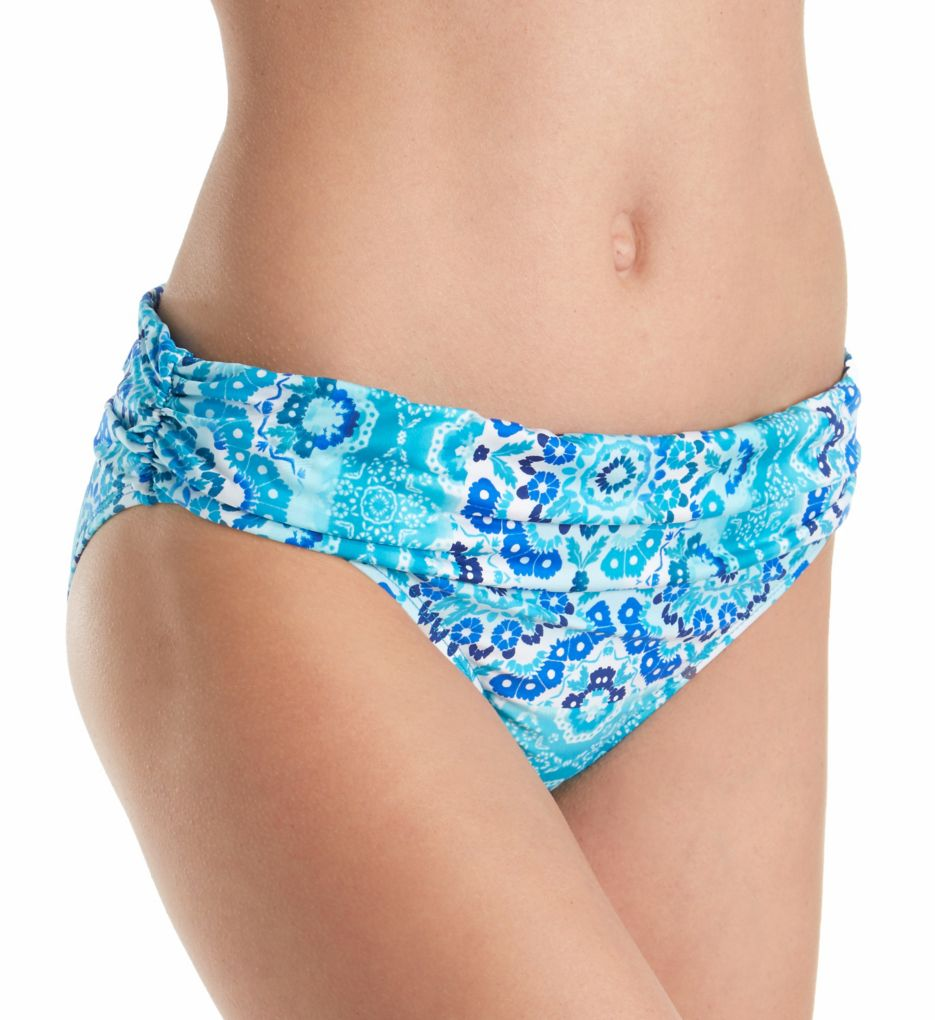 La Blanca All In The Mix Shirred Band Hipster Swim Bottom