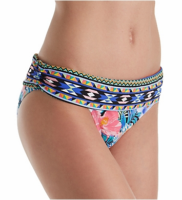 La Blanca Tropicali Shirred Band Hipster Brief Swim Bottom