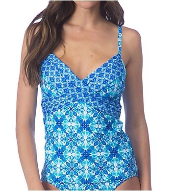 La Blanca True Blue Underwire Tankini Swim Top