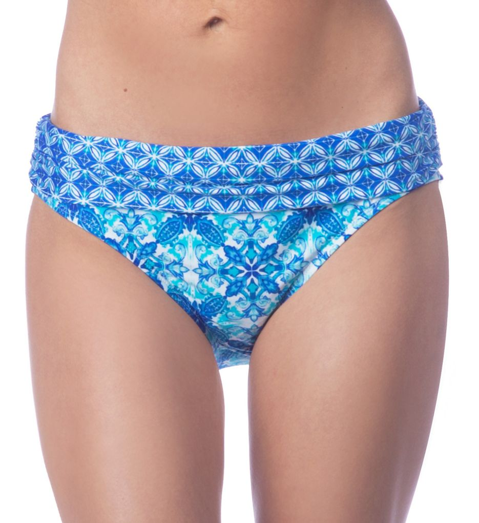 La Blanca True Blue Shirred Band Hipster Swim Bottom