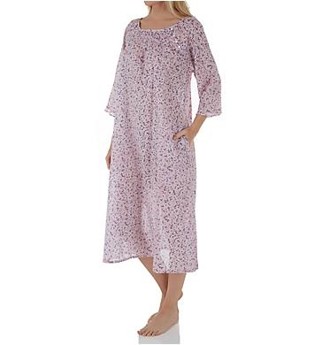 La Cera 100% Cotton Long Sleeve Floral Dress