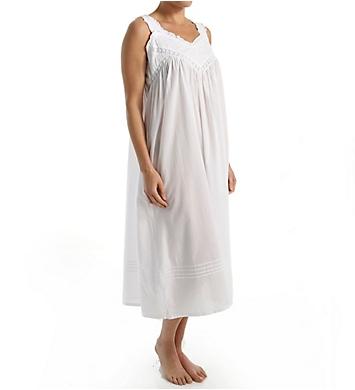La Cera 100% Cotton Woven Embroidered Pinafore Gown