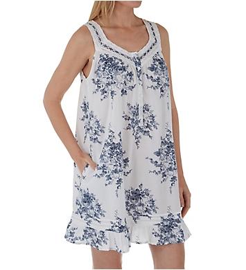 La Cera 100% Cotton Flouncy Short Dress