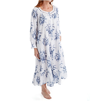 La Cera 100% Cotton Woven Printed Floral Button Front Robe