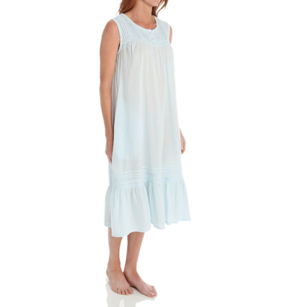 La Cera Cotton Crochet Sleeveless Gown With Pockets