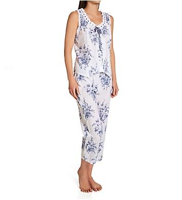La Cera 100% Cotton Sleeveless Printed Pajama Set