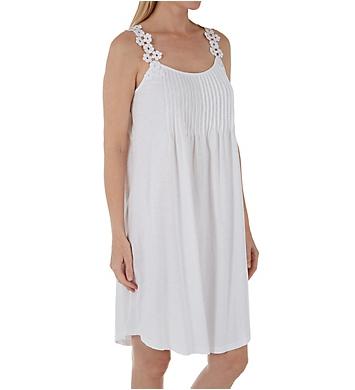 La Cera 100% Cotton Bloom Knit Chemise