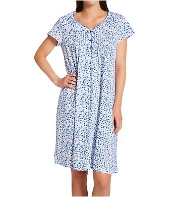 La Cera Cotton Knit Short Sleeve Sleepshirt