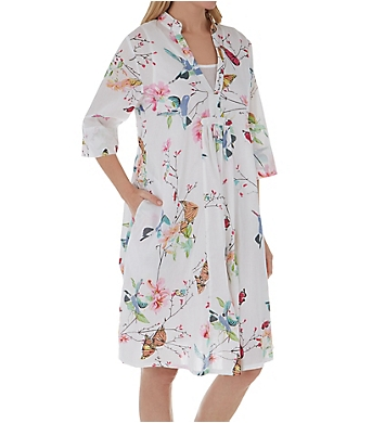 La Cera Spring Blooms Cotton Short Dress