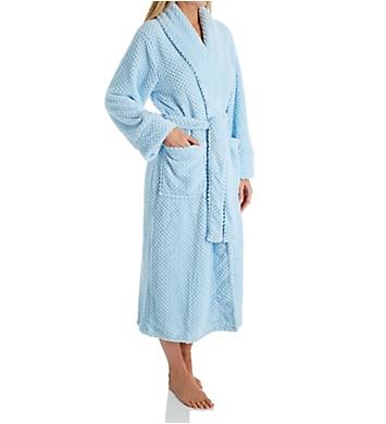 La Cera 100% Polyester Honeycomb Fleece Robe