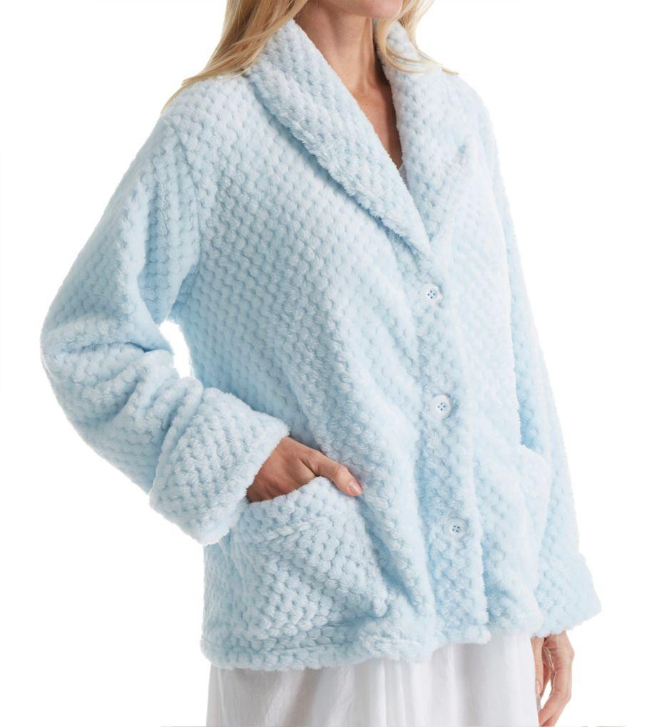 La Cera 100% Polyester Honeycomb Fleece Bed Jacket