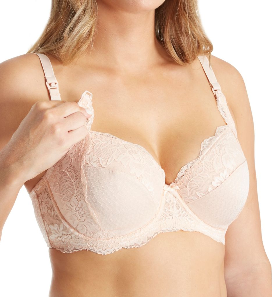 La Leche League Lace and Jacquard Full Coverage Nursing Bra