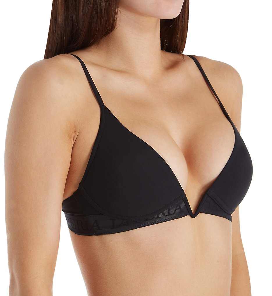 La Perla - La Perla 03187 Second Skin Triangle Padded Bra (Black 30B)