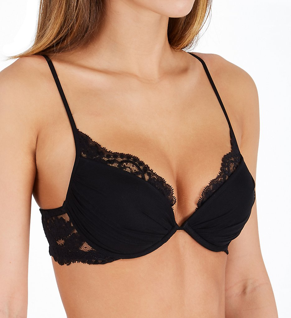 La Perla - La Perla 04321 Tres Souple Lace Trim Push Up Bra (Black 32B)