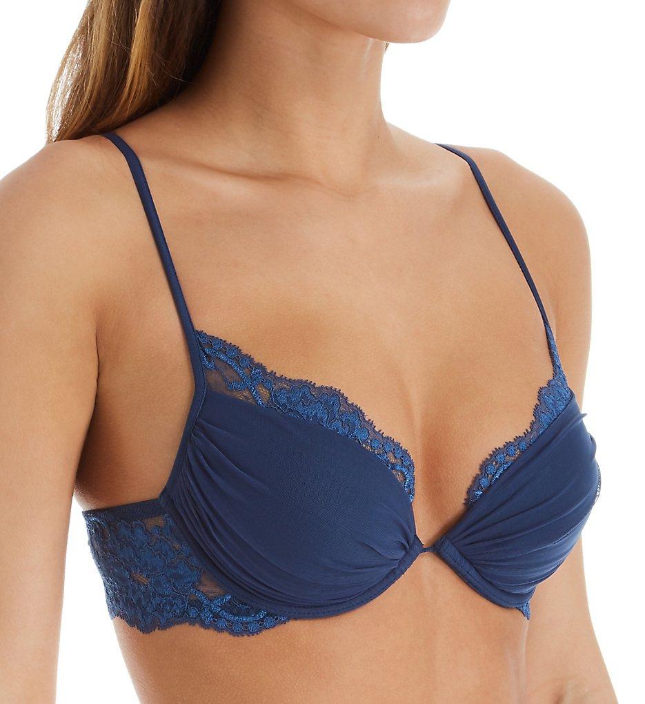 La Perla 04321 Tres Souple Lace Trim Push Up Bra (Royal Blue)