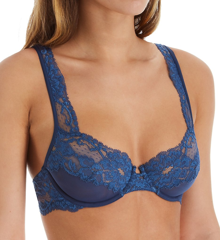 La Perla 04322 Tres Souple Lace Underwire Bra (Royal Blue)