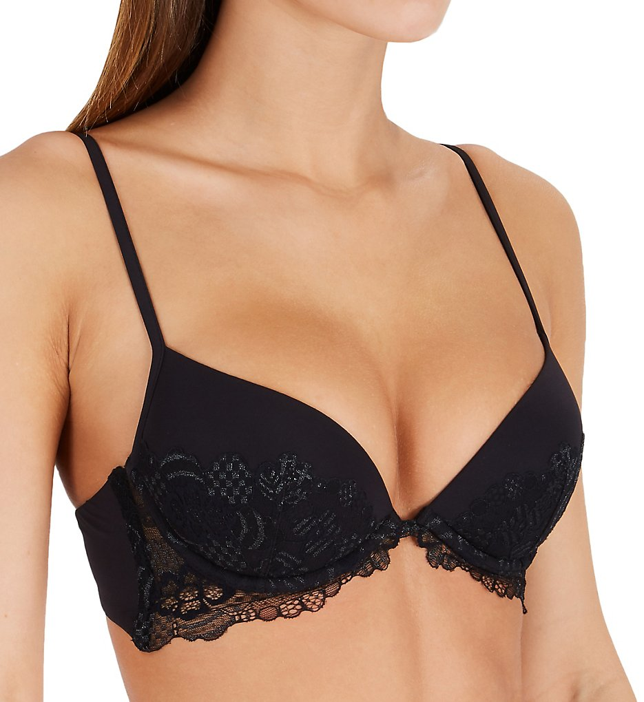La Perla - La Perla 04345 Floral Dream Lace Push Up Bra (Black 32B)
