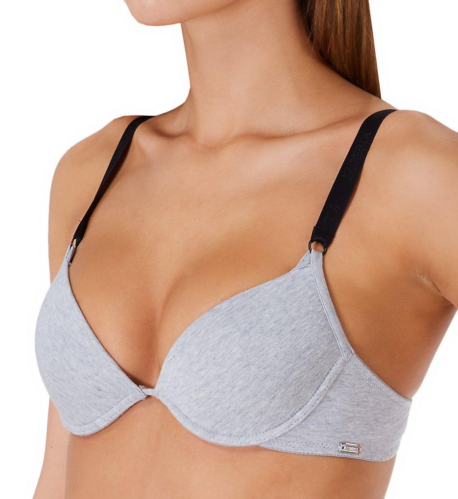 La Perla 04386 Soft Touch Push Up Bra (Grey Melange/Black)