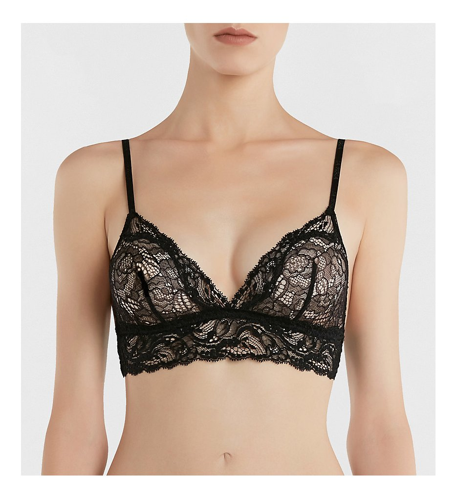 La Perla : La Perla 0751 Freedom Triangle Bra (Black 32B)