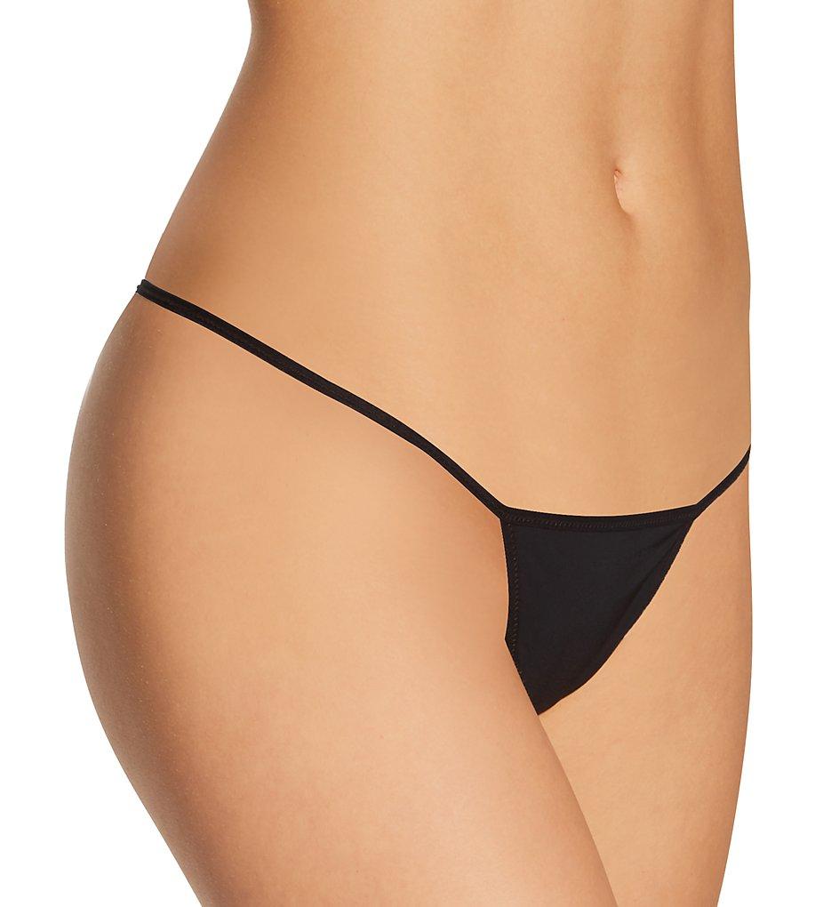 La Perla 29600 Second Skin G-String Panty (Black XL)