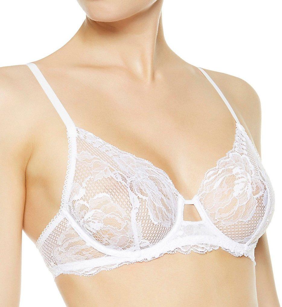 La Perla - La Perla 906292 Begonia Full Cup Sheer Underwire Bra (White 32B)