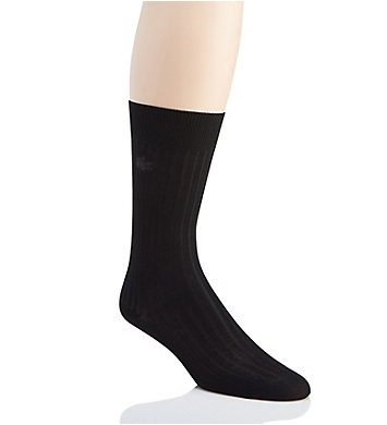 Lacoste Ribbed Cotton Crew Sock