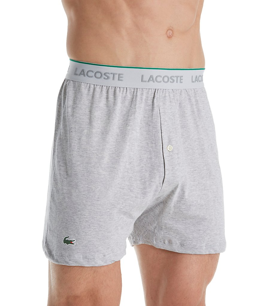 Lacoste Essentials 100% Cotton Knit Boxers - 3 Pack