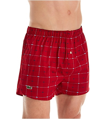 Lacoste Authentics Croc Print Cotton Woven Boxer