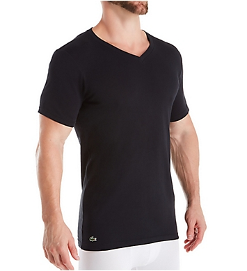 Lacoste Essentials Slim Fit V Neck T-Shirts - 3 Pack